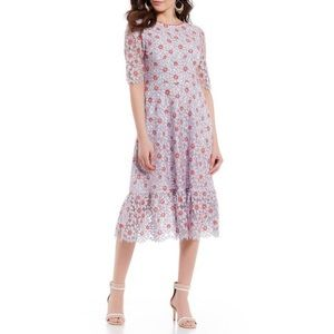 NWT Draper James Collection Floral Lace Midi